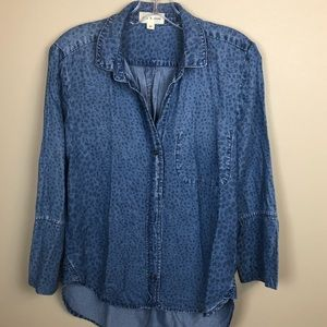 Cloth and Stone Anthropology chambray shirt xs